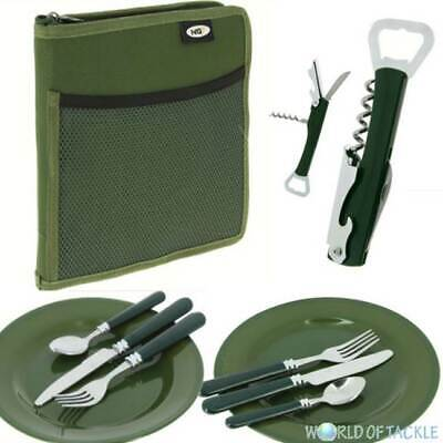 NGT Deluxe Cutlery And Plates Set Carp Fishing Camping Day Picnic 2 Forks Spoons • 15.93£