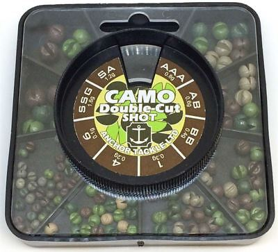 Anchor Tackle Camo Double-cut Shot 4 Div 6 Div 8 Div Carp/barbel/chub/tench • 8.95£