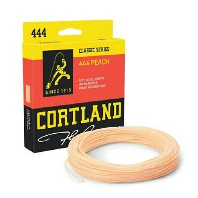 *NEW* Cortland 444 Classic Peach Fly Fishing Floating Line Trout 1st Class S/F • 49.95£