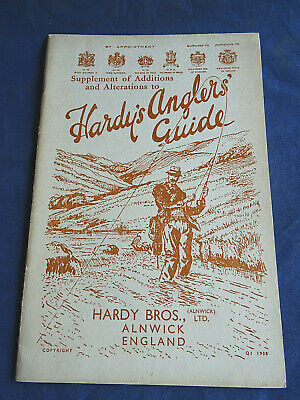Scarce Vintage Hardy Advertising Fishing Catalogue Supplement Of Additions 1938 • 29.99£