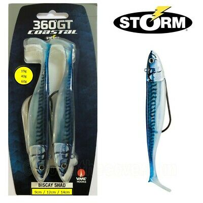 2 Storm 360GT Coastal Biscay Shad Weedless Lure 19g 40g Or 60g - Blue Mackerel • 9.59£