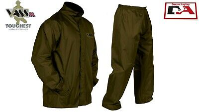 Vass Waterproof Breathable Jacket And Trousers Khaki Green All Sizes • 39.99£
