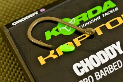 Korda Kaptor Choddy Hooks Barbed And Barbless Weed Gravel Carp  Most Sizes • 3.49£