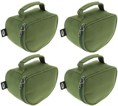 2-5pc X New NGT Deluxe Green Reel Cases Fit Big Pit Reels Coarse Carp Fishing • 19.99£