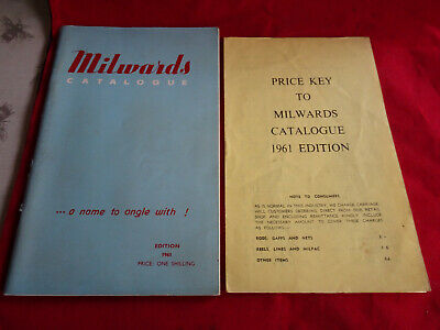Scarce Milwards Fishing Catalogue For 1961 + Price List • 19.99£