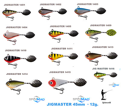 Spinmad JIGMASTER 12g.    Fast Dispatch Ideal For Pike , Perch & Zander • 6.50£