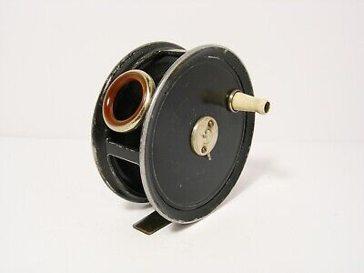 Vintage JW Young 3 ½  Pattern No 5 Alloy Fly Fishing Reel - Retaining Well... • 180£