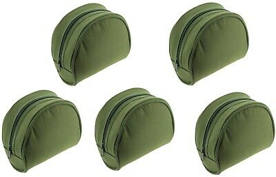 2-5PC XNew Padded Green Reel Cases Bag For Carp Pike Fishing Tackle • 13.69£