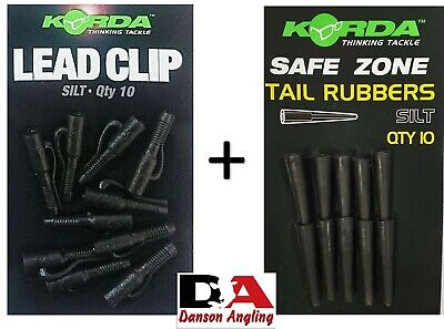 Korda Lead Clips And Tail Rubber Combo Deal New All Colours • 7.99£