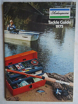Vintage Shakespeare Tackle Guide Fishing Advertising Catalogue For 1975 • 12.99£
