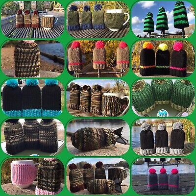 Hand Knitted Fishing Bite Alarm Covers - Made To Order / Carp Fishing Gift • 15£