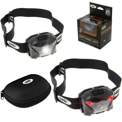 Head Torch Fishing Usb Rechargeable Headlight Headlamp Camping Ngt Xpr • 12.95£