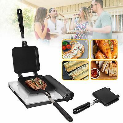 Pro Carp Camping Fishing Sandwich Toaster Grill Griddle Fry Pan Outdoors • 8.99£