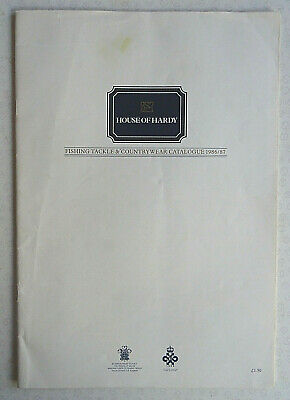 Vintage Hardy Advertising Fishing Catalogue Anglers Guide For 1986/87 • 12.99£