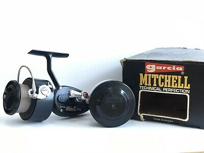 Vintage Garcia Mitchell 410 Fixed Spool Reel With Box And Spare Spool • 114.99£