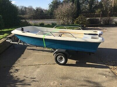 Orkney Dory Fishing Boat And Trailer • 849.99£