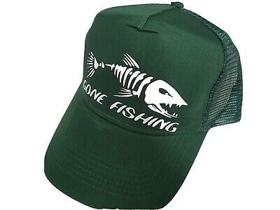 Gone Fishing Hat - Green - One Size • 8.99£