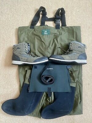Orvis Breathable Stocking Foot Waders ML Simms Boots UK10 Fly Fishing Sea Bass • 2.20£