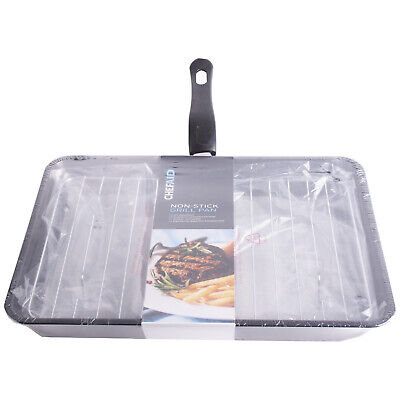 Chef Aid Non Stick Grill Pan 34x24cm - Fits Most Grills • 13.49£