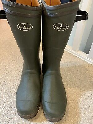 Percussion Neoprene Lined Wellington Boots • 20£
