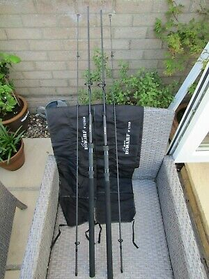 2 Nash H-gun Dwarf Rods 9ft 1.75lb + 2 Rod Nash H-gun Rod Holdall • 100£