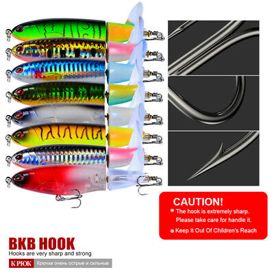 Whopper Floating Fishing Lures Crankbaits Tail Rotating Topwater Surface Plopper • 1.42£
