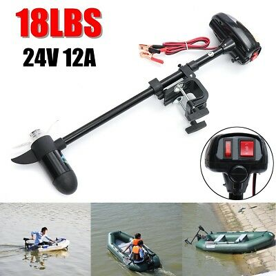 18 - 88LBS 12/24V Electric Outboard Trolling Thrust Motor Boat Engine Or   U • 226.99£