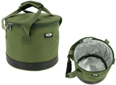Ngt Carp Fishing Insulated Bait Bin With Handles & Zip Cover Boilies Glugs • 12.99£