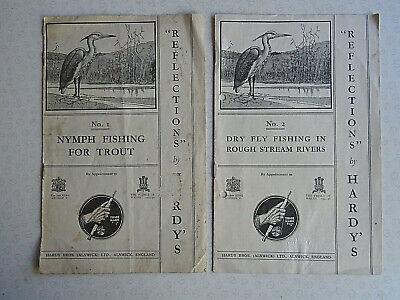 Scarce Vintage Hardy Advertising/info Booklets  Reflections  No.1 & No.2 • 16.99£