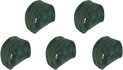 2-5PCx NGT New Camo Padded Green Reel Cases/Coarse,Carp, Sea Fishing (282-C) • 14.30£