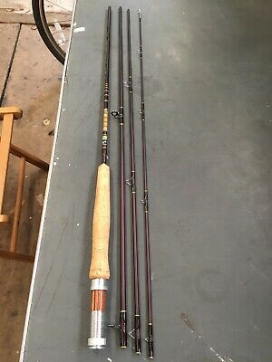 """Cormoran Carb-o-star De Luxe Fly 8'6"""" #4-5 Carbon 4 Pce Travel Fly Fishing Rod • 40£"""