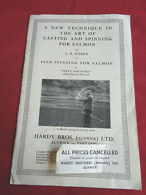 Hardy  A New Technique In The Art Of Casting & Spinning For Salmon  +advertising • 21.99£