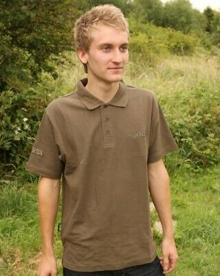 Korda Olive Green Polo Shirt ( X X Large ) Embroidered Logo Carp Barbel Fishing • 14£