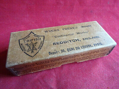 A Rare Vintage Wyers Freres Registered Safety Box Designed For Lure Fishing • 59.99£
