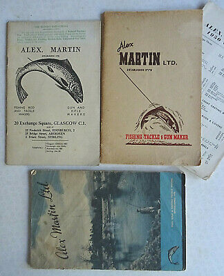 3x Vintage Alex Martin Fishing Catalogues For 1948, 1950 And 1951 • 19.99£