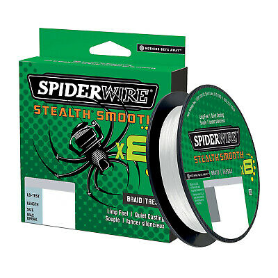 Spiderwire Stealth Smooth8 Translucent Braid 300m All Sizes Braided Fishing Line • 26.99£