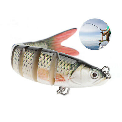 2PCS Multi Jointed Fishing Lure Lifelike Swimbait Pike Bass Salmon Carp Bait • 4.99£