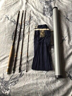 Vintage 8ft Hardy Smuggler 4 Piece Fly Fishing Rod With Bag Bungs And Tube • 49.99£