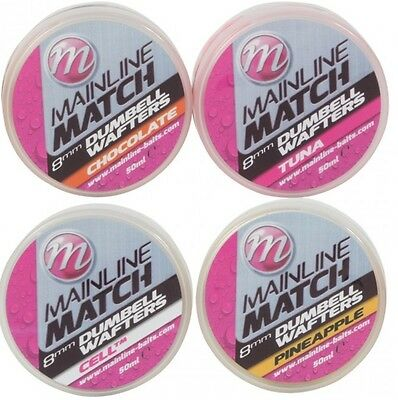 Mainline Match & Coarse Fishing 8mm Dumbell Wafters - All Flavours • 3.99£