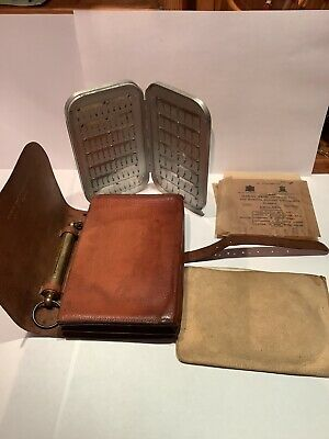 Vintage Rare Hardy Bros  Allinone Fly Fishers Case  • 295£