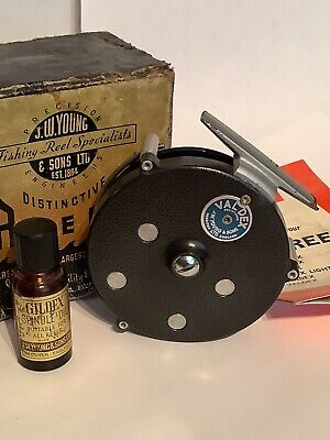 Vintage J W Young Valdex Reel With Box Papers And Spindle Oil • 97£