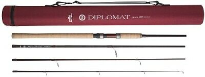 Abu Garcia 4 Piece Diplomat Spin Spinning Rod & Cordura Tube – All Models • 49.95£