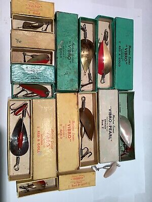 Vintage Horton Evans Vibro Lures And Boxes Selection  Number 2 • 33£