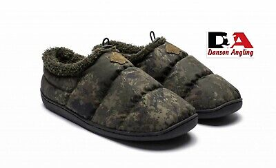 Nash Camo Deluxe Bivvy Slippers New Ideal Gift Fishing Clothing • 29.99£