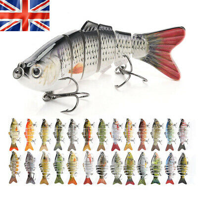 Fishing Lures Multi Jointed Realistic Pike Predator Spinner Swimming Lure • 6.99£
