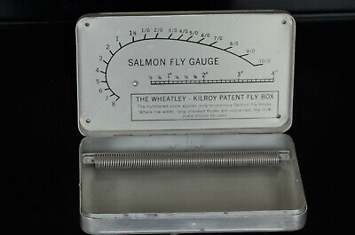 Vintage Wheatley Kilroy Silmalloy Metal Salmon/Trout Fly Box • 50£