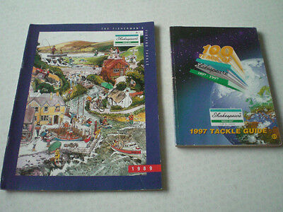 2x Good Vintage Shakespeare Advertising Fishing Catalogues 1989 And 1997 • 14.99£