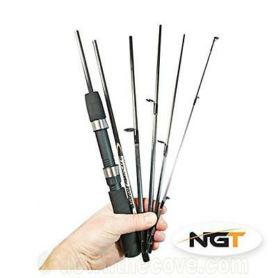NGT Travelmaster 6ft 6pc Carbon Travel Fishing Rod In Bag - FAST TRACKED POST! • 19.95£