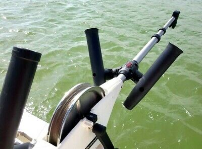 SEAHORSE Adjustable Dual Rod Holder Assembly Boom Mount For CANNON DOWNRIGGERS • 76.94£