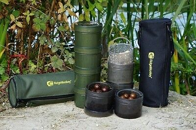 RidgeMonkey Modular Hookbait / Glug Pots With Case & Glug Cages All Colours • 13.99£
